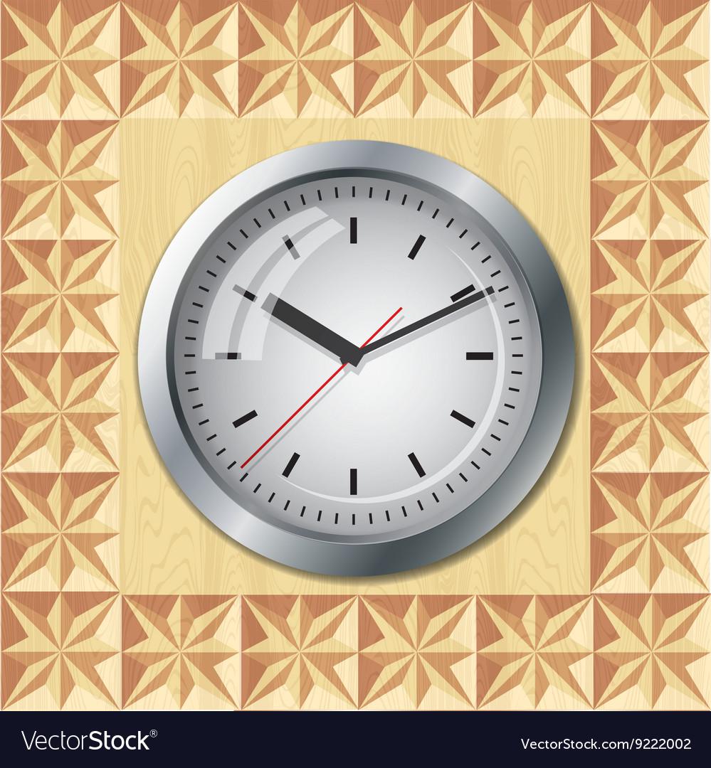 Wall mounted clock vector image