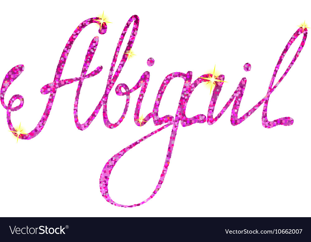 Abigail name lettering tinsels