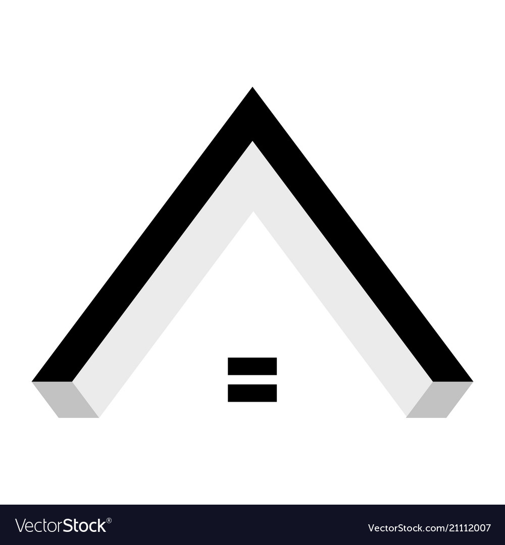 Abstract black house roof logo isolated on white