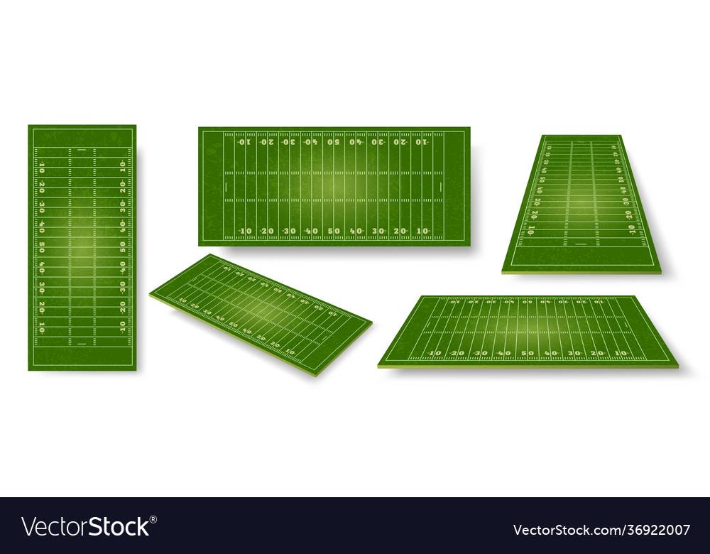 American football field realistic ball sport