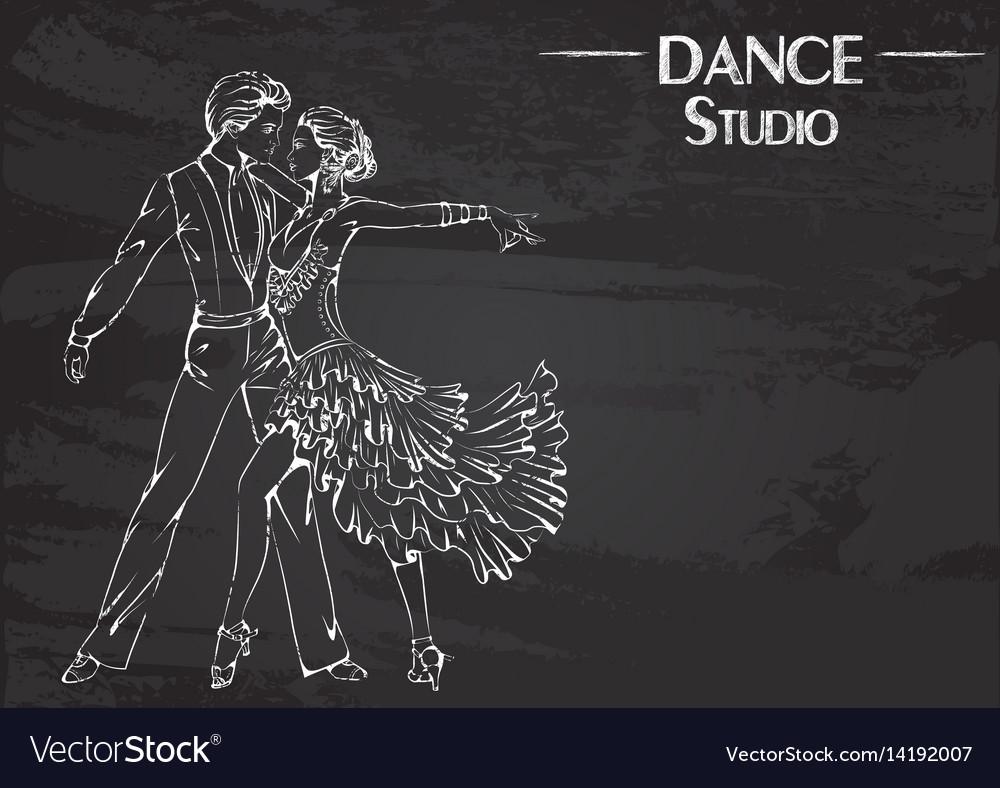 Dance line chalk ballroom dancing latina