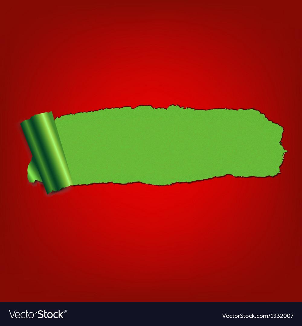 Green Paper Torn