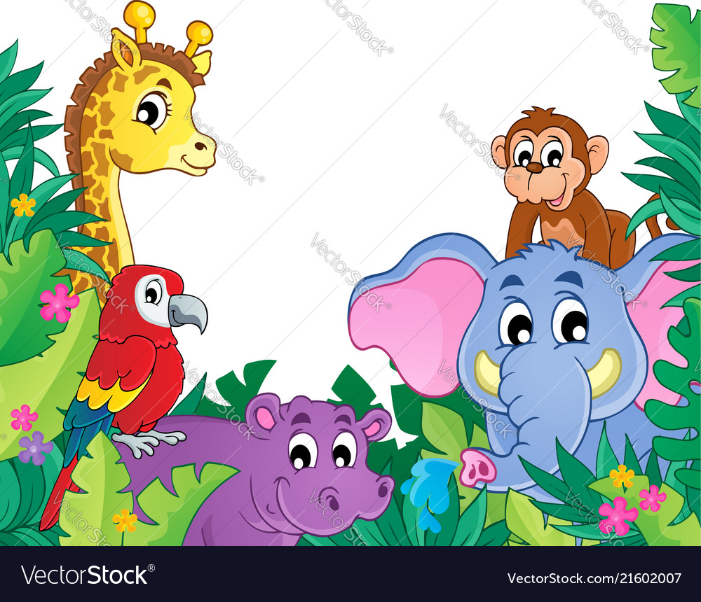 Theme Jungle image with jungle theme 8 royalty free vector image