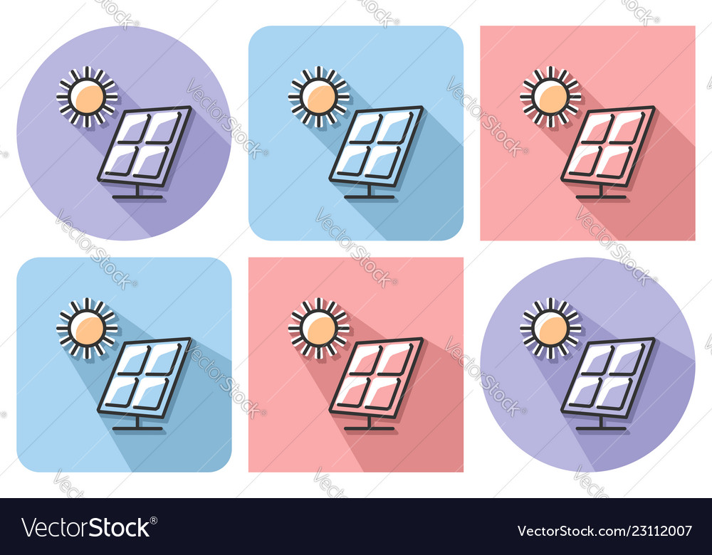 Outlined icon of solar battery with parallel and
