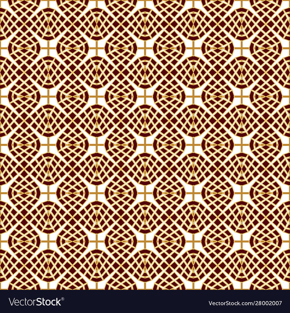 Seamless golden lace brown-white lace background