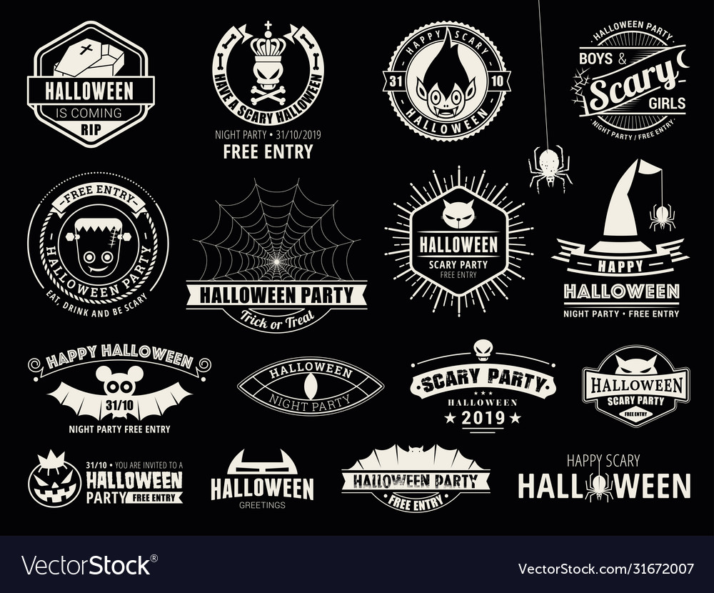 Set halloween celebration collection