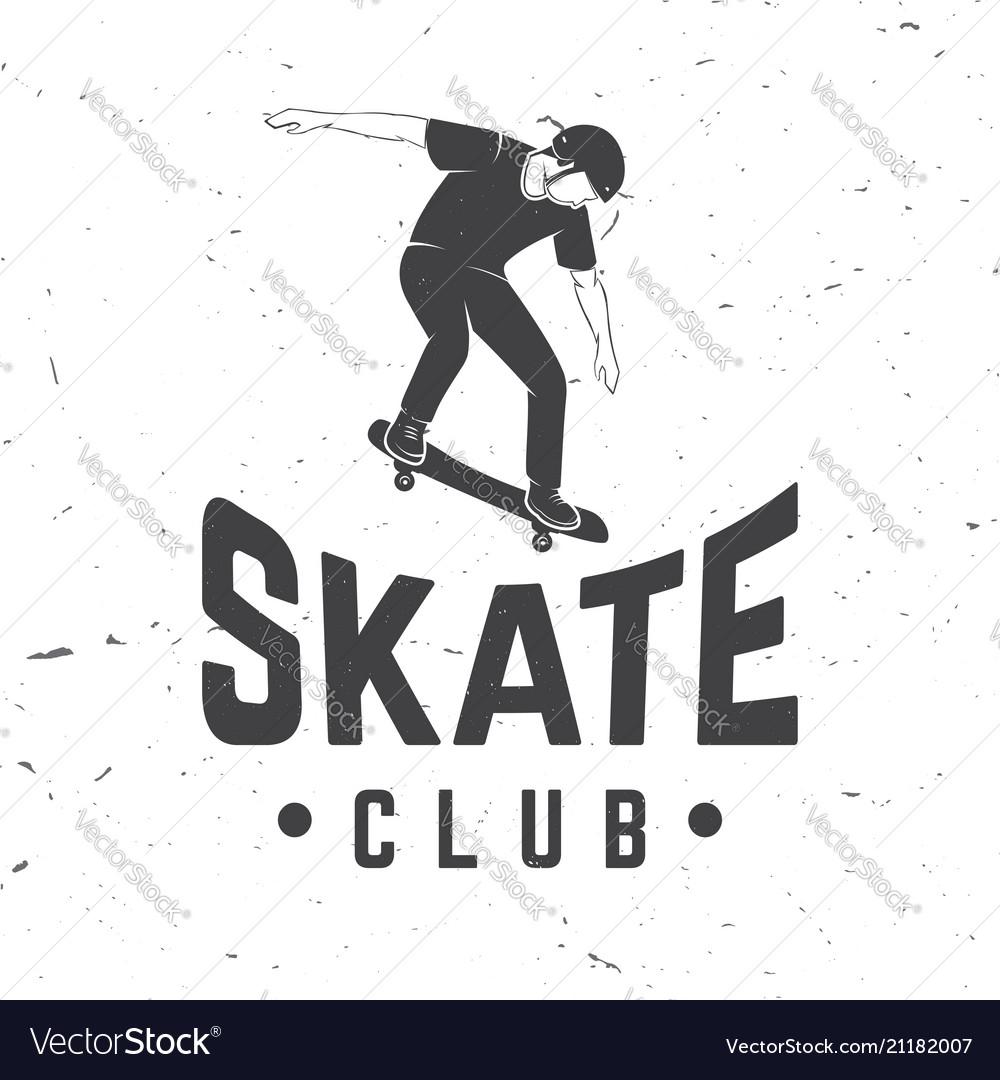 Skate club badge