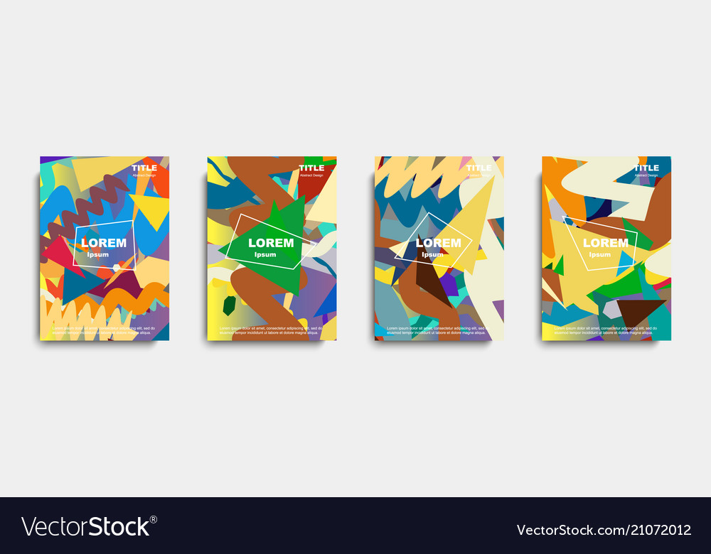 Abstract cover design banners