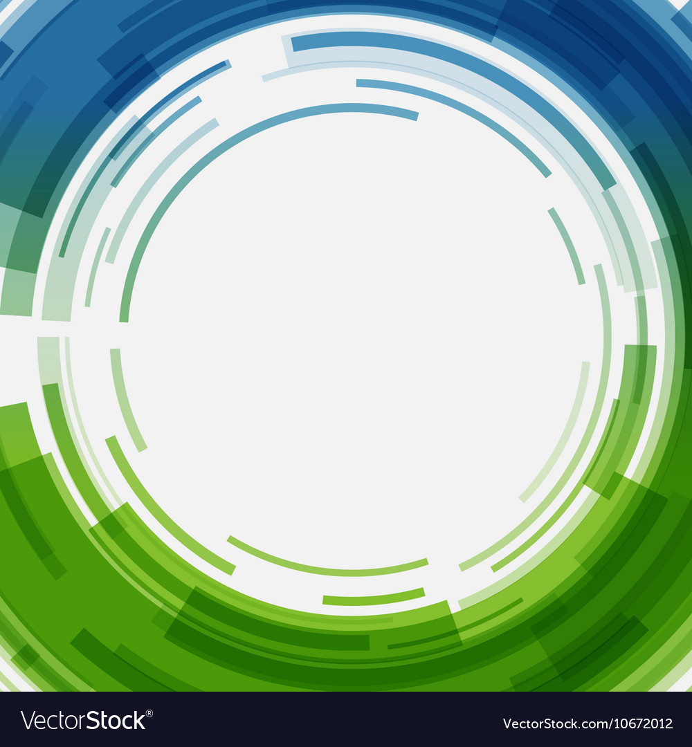 Digital geometric lines circles abstract vector image