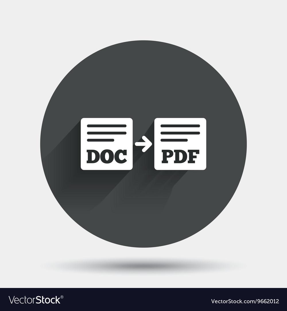 Export DOC to PDF icon File document symbol