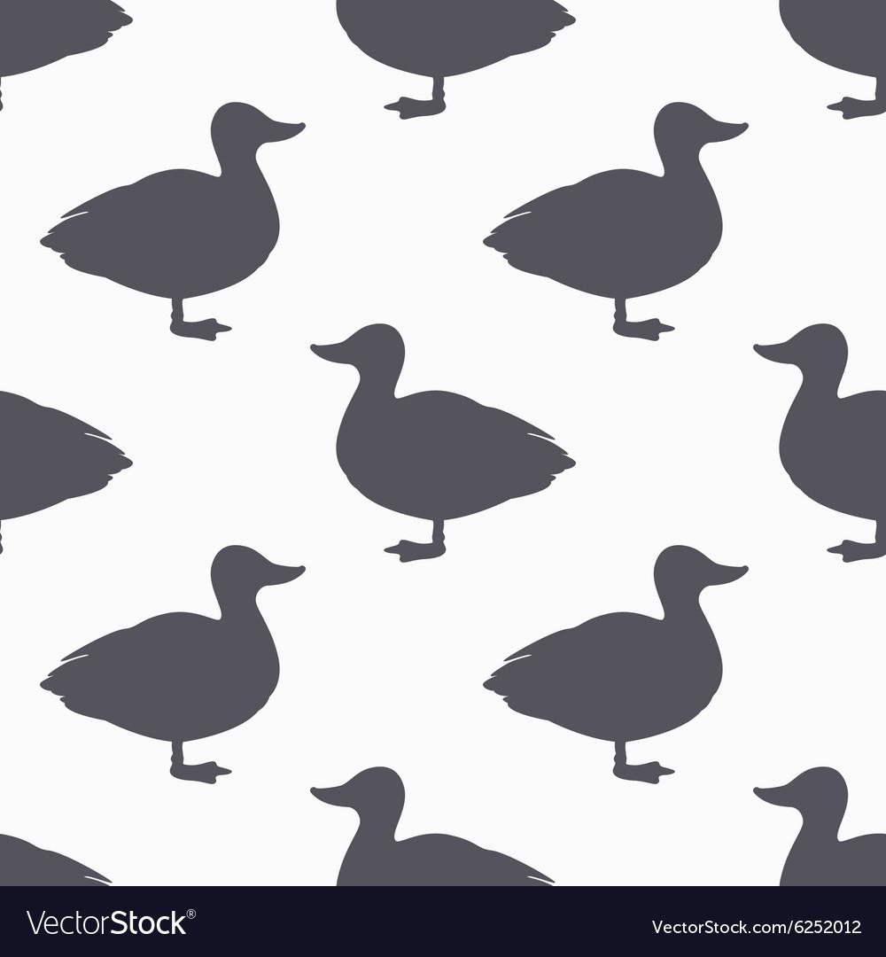 Farm bird silhouette seamless pattern Duck meat