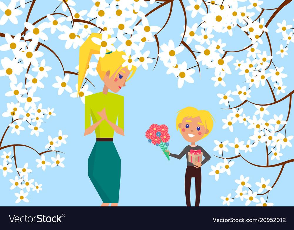 Familientherapie Blonde Mama