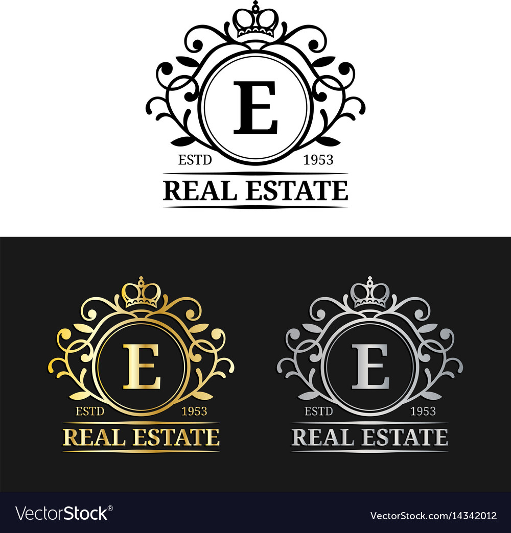 Real Estate Monogram Logo Templates Luxury Vector Image