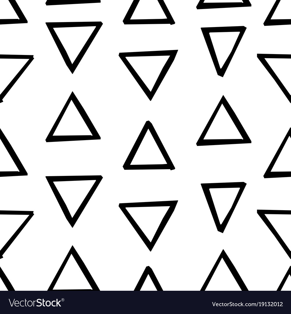 Seamless decorative pattern with hand drawn