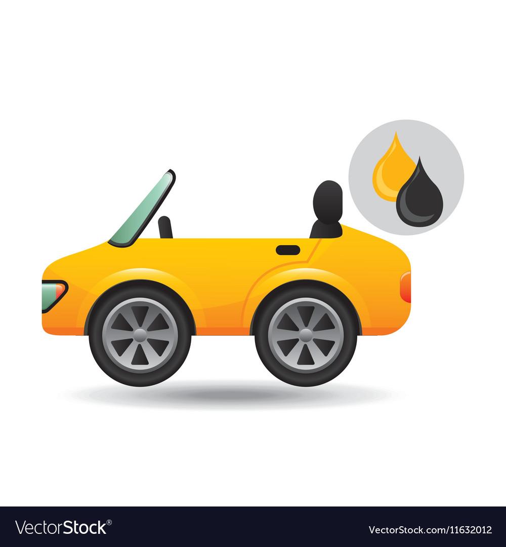 Sport car drop oil gasoline