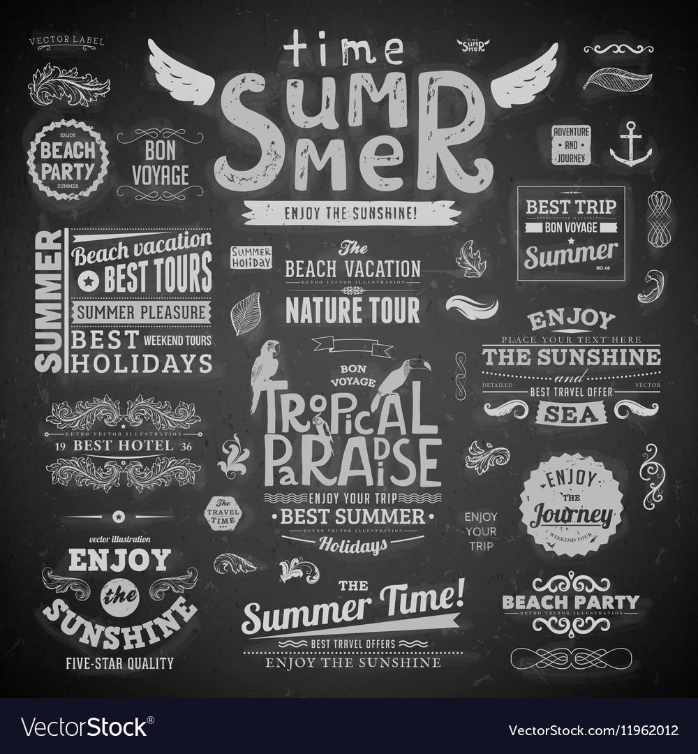 Summer Typography