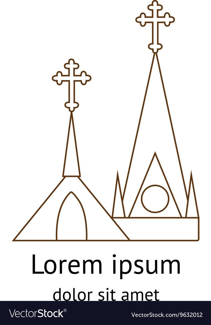 Template logo church vector image