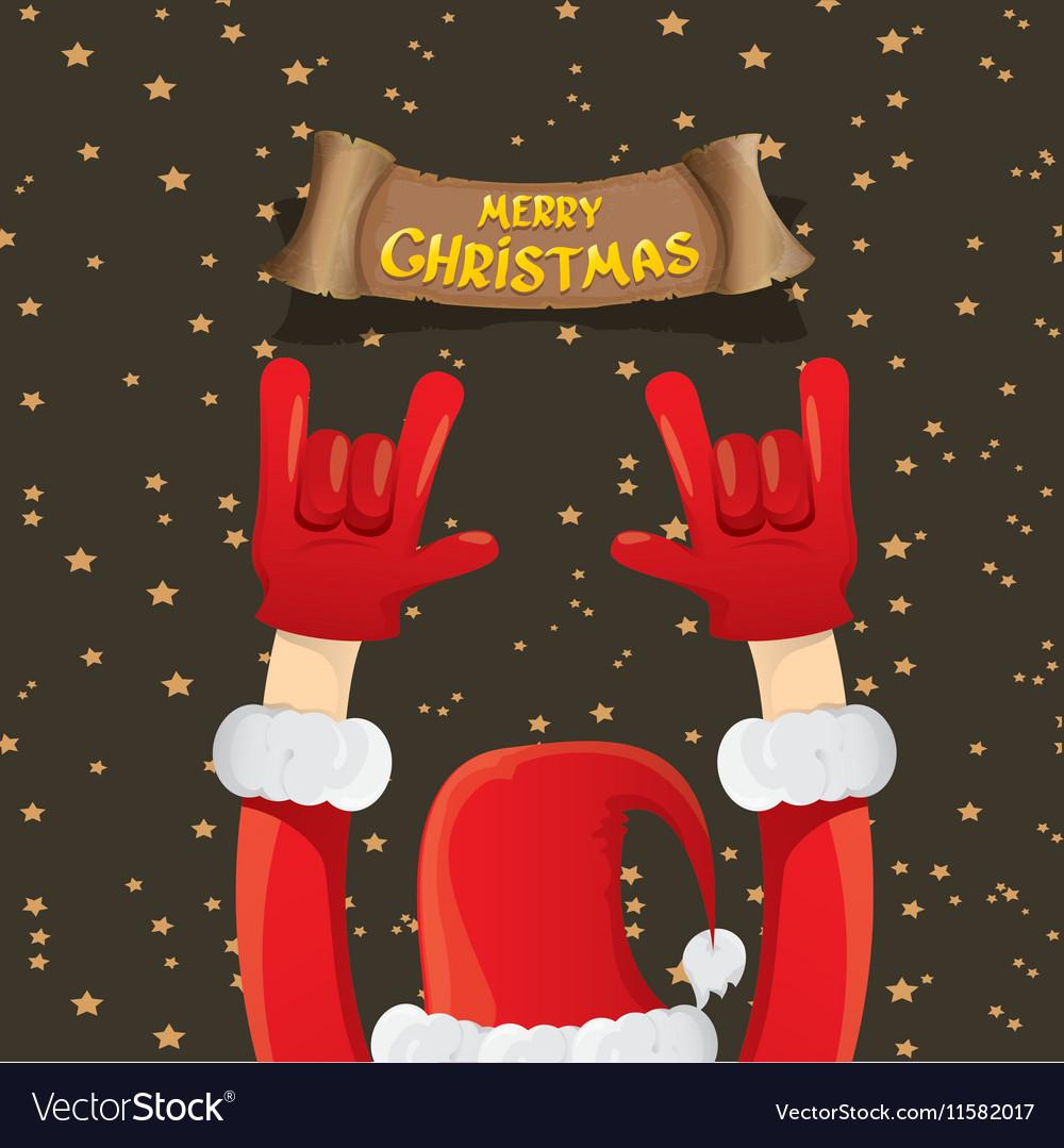 Christmas Rock n roll greeting card Royalty Free Vector