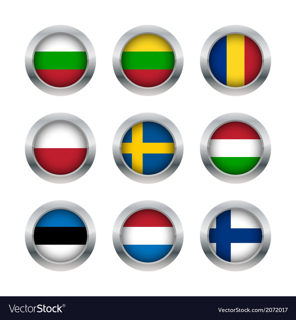 Flag buttons set 3