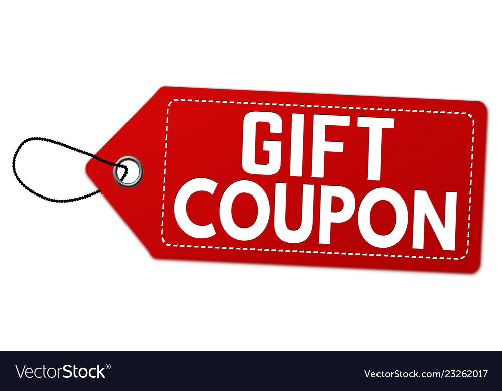 Gift Coupon Label Or Price Tag Royalty Free Vector Image