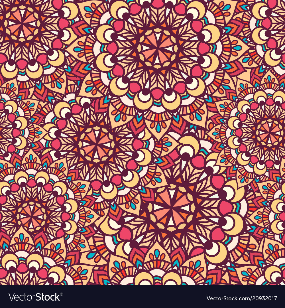 Seamless pattern of circular texture