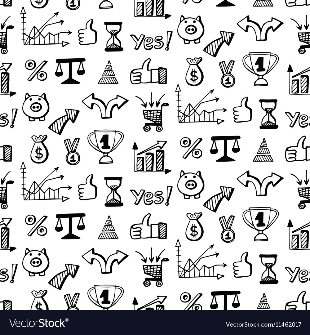 Seamless pattern with Social media doodles vector image