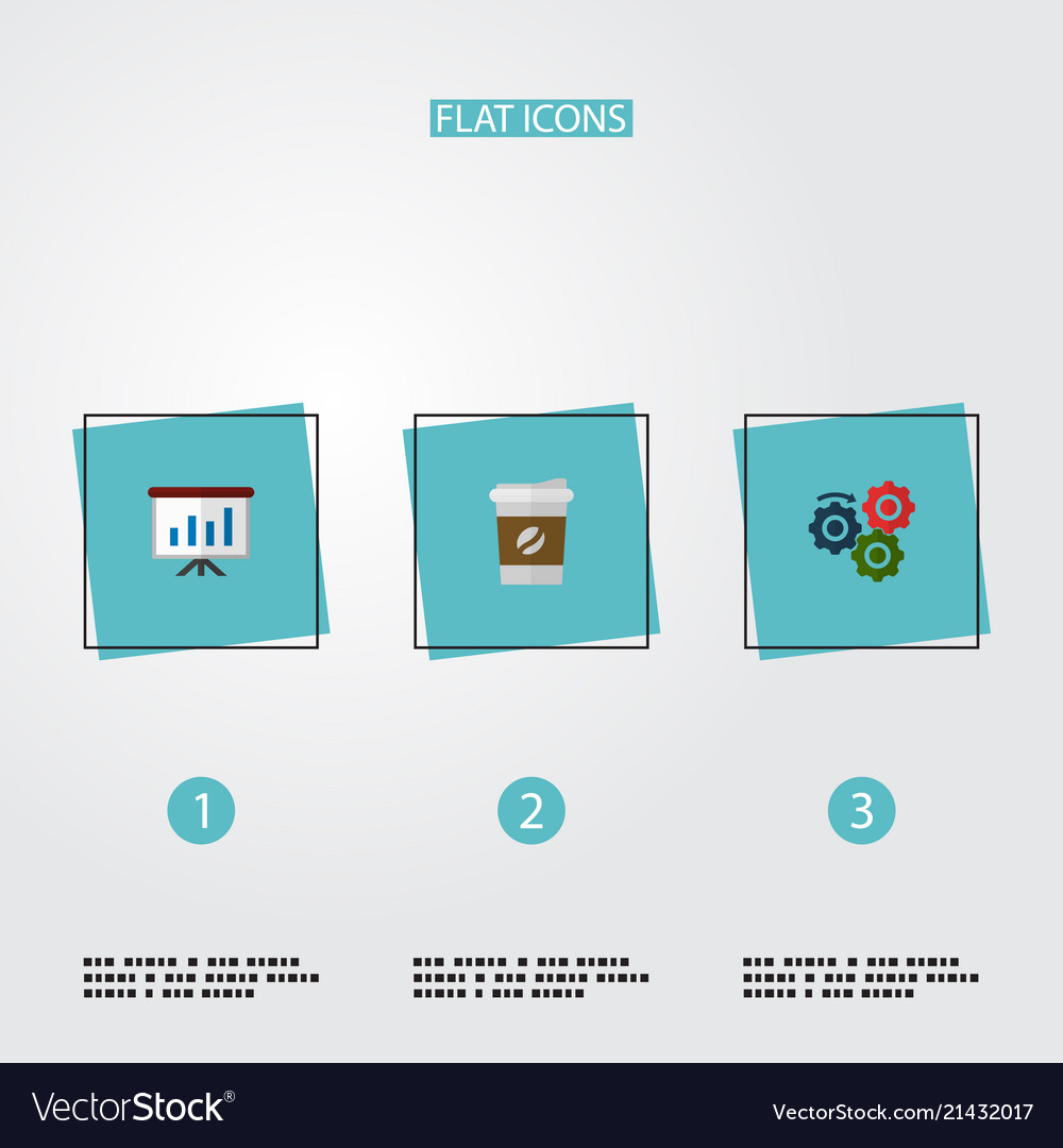 Set of startup icons flat style symbols with
