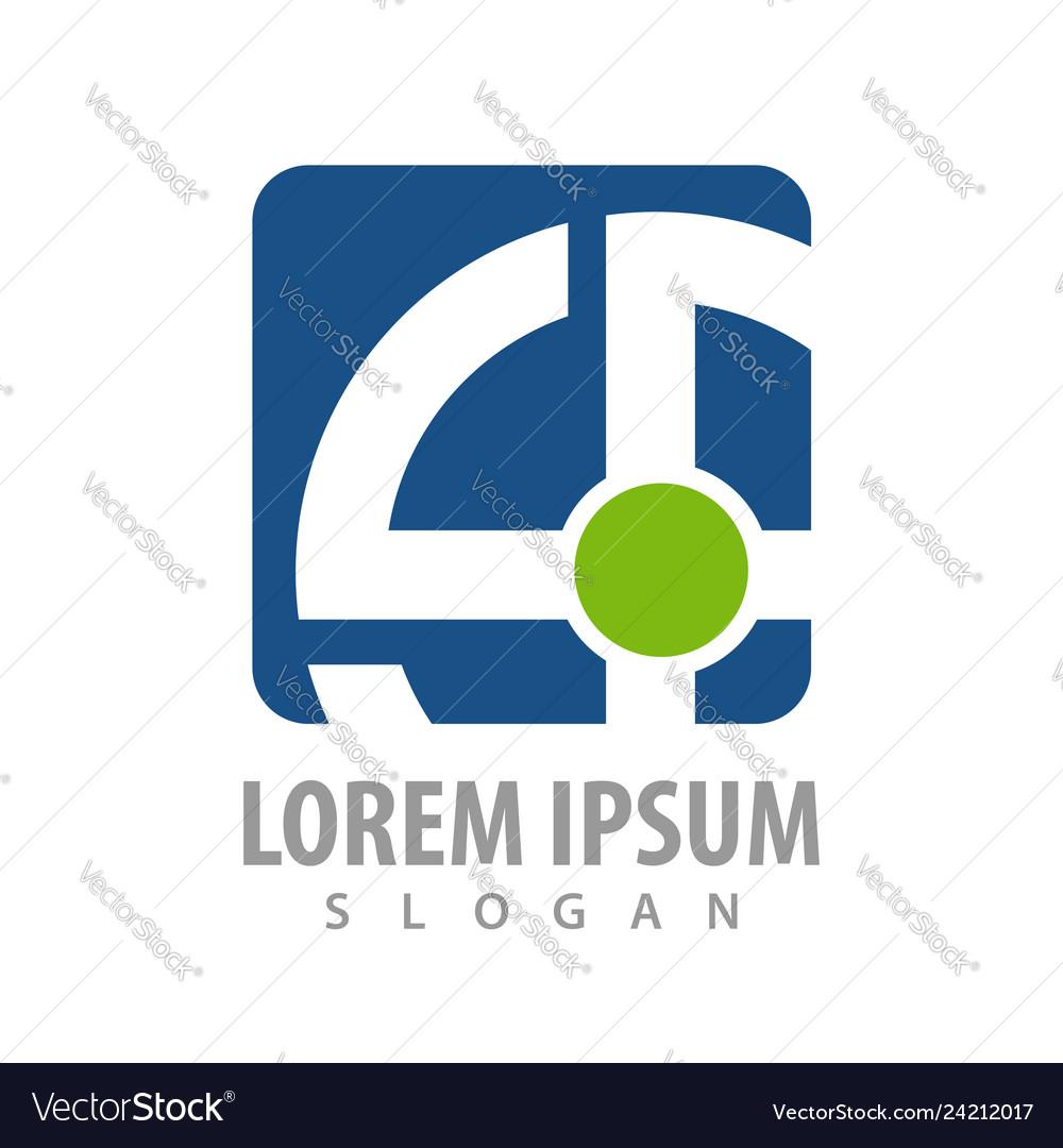 Square rotate line logo concept design symbol