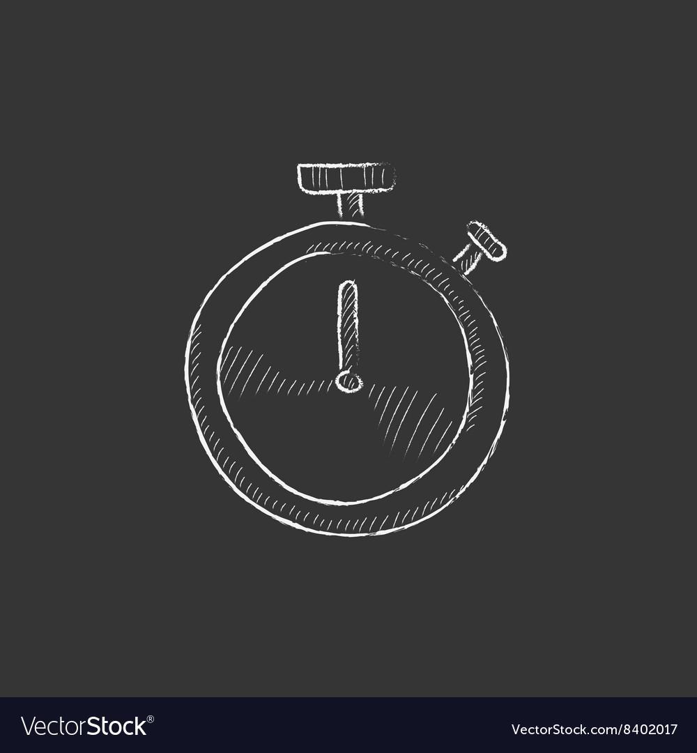 Stopwatch Drawn in chalk icon