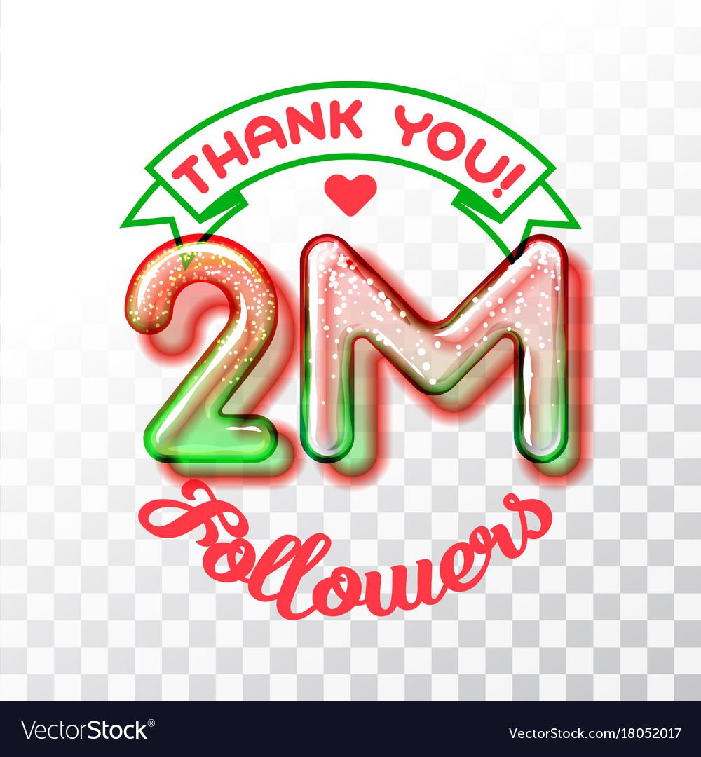 Thank you 2m followers
