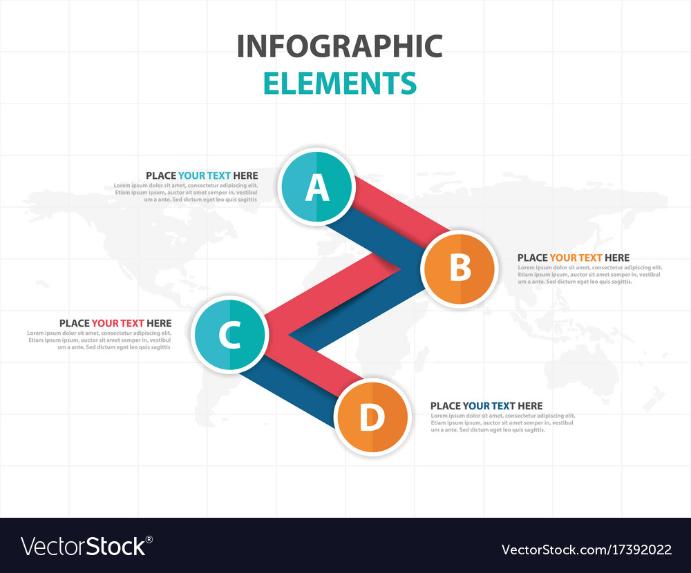 Abstract colorful line business infographics