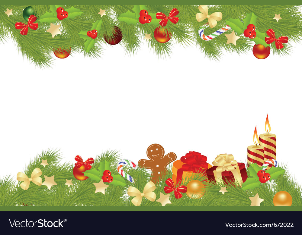 Christmas card background with decorations