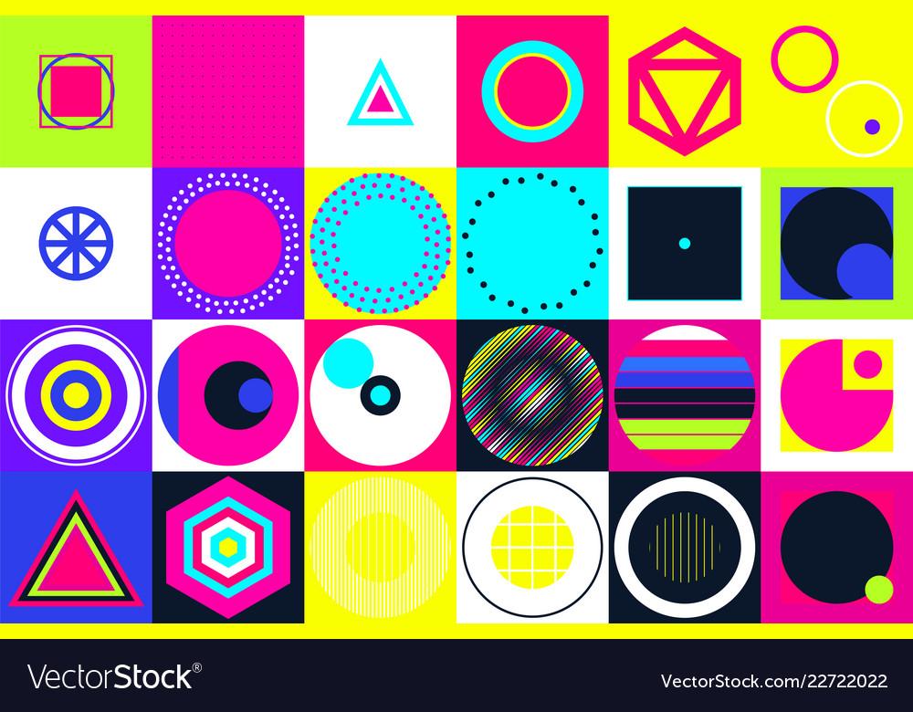 Geometric figures collection universal