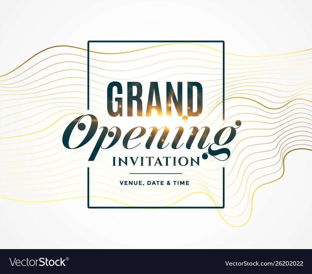 Grand opening invitation flyer design