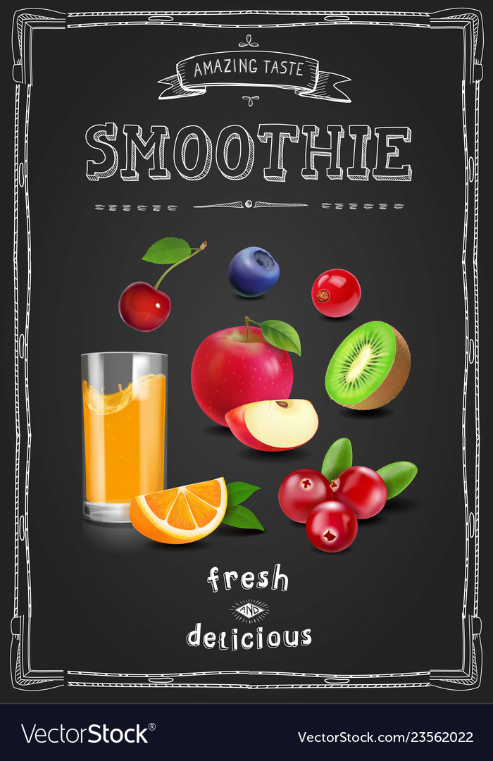 Juice and smoothie restaurant menu fresh drink