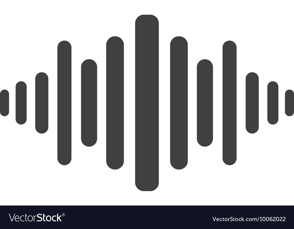 music soundwave icon royalty free vector image rh vectorstock com sound wave vector ai sound wave vector png