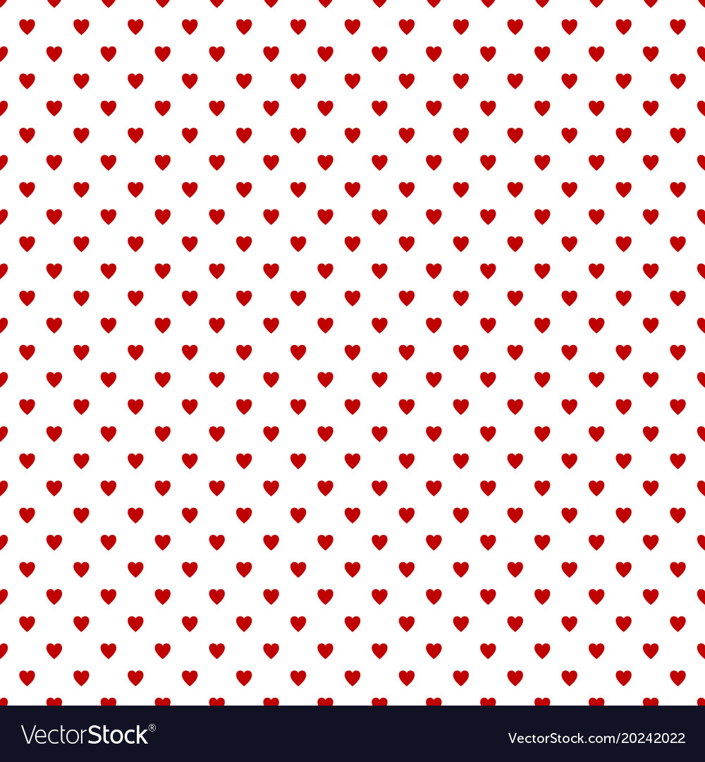 Repeating heart pattern background design - love