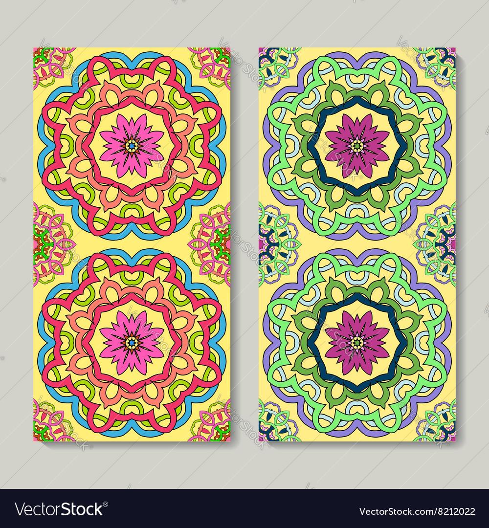Seamless vertical patterns set hand drawn