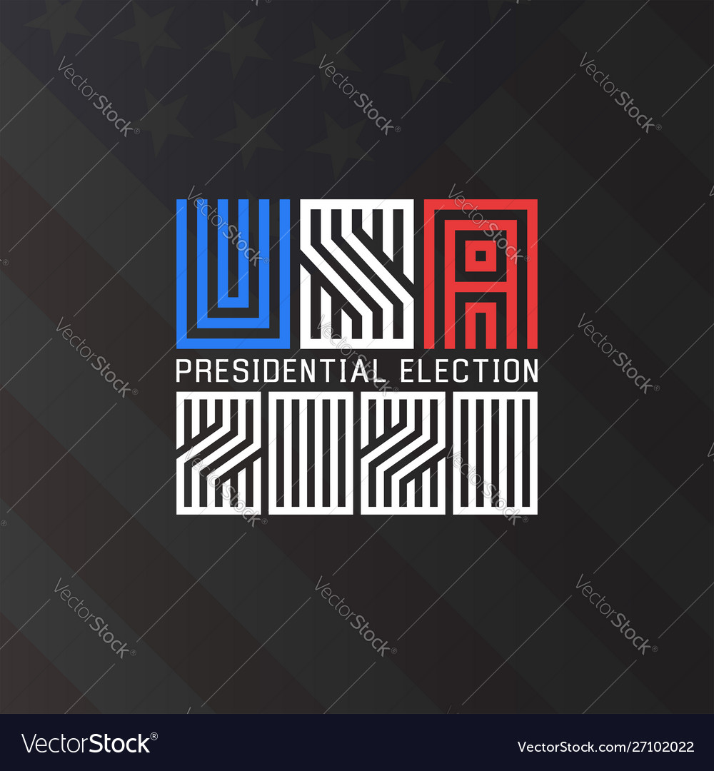 Us presidential election logo 2020 template