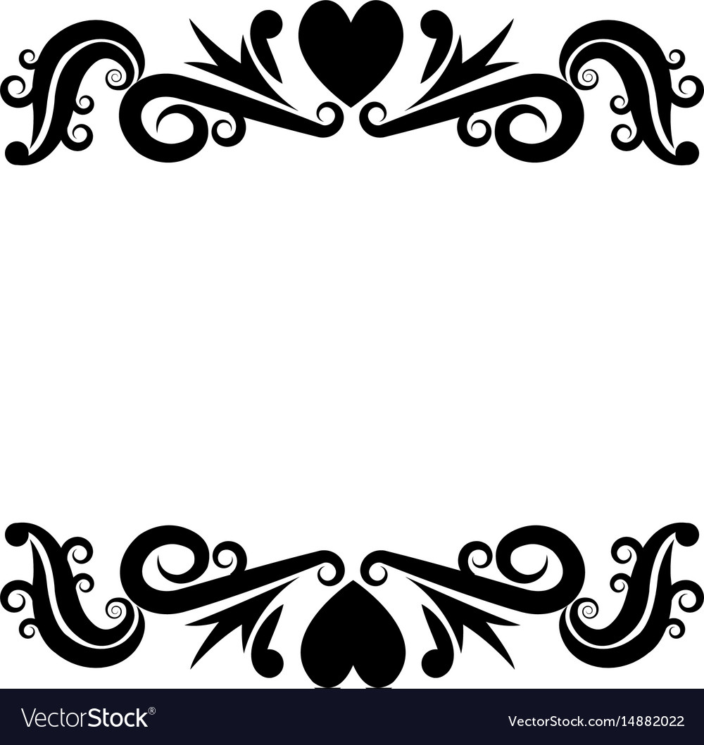 Vignette romantic decorative crest ornate flourish