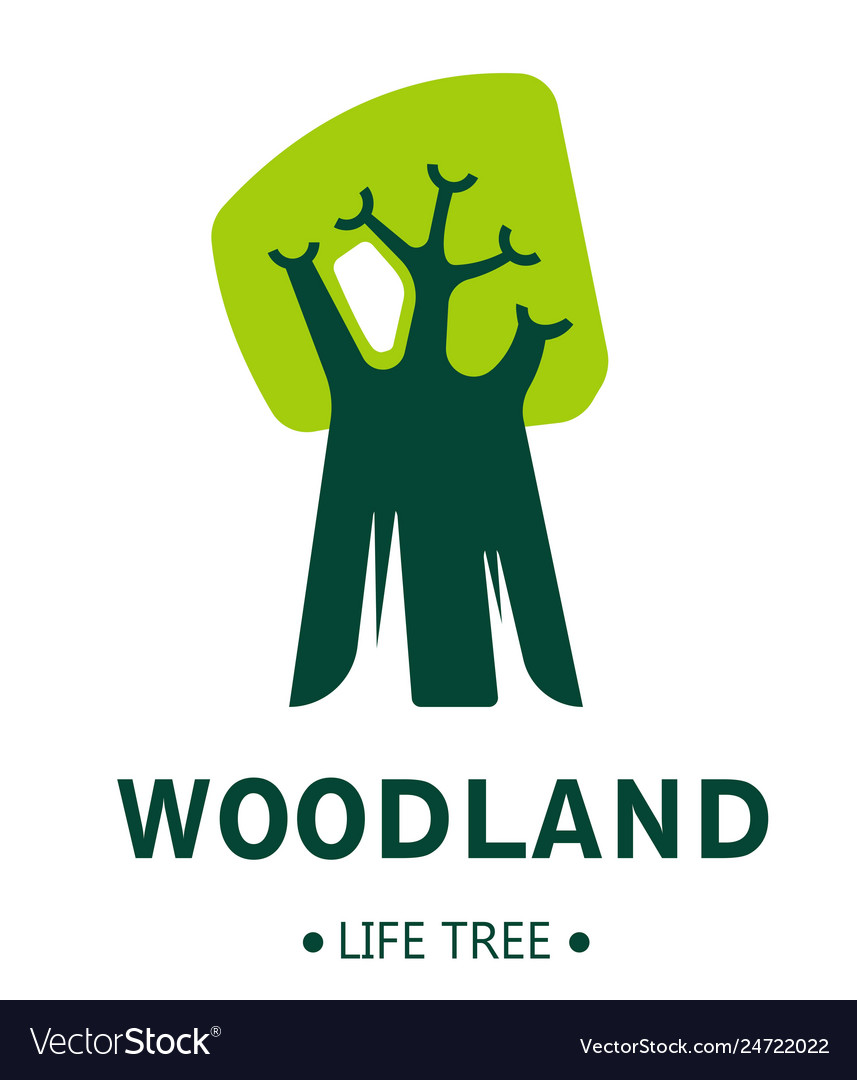 Woodland isolated icon tree plant ecology and vector