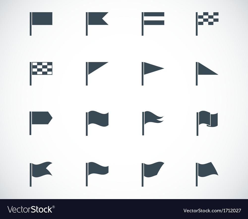 Black flag icons set