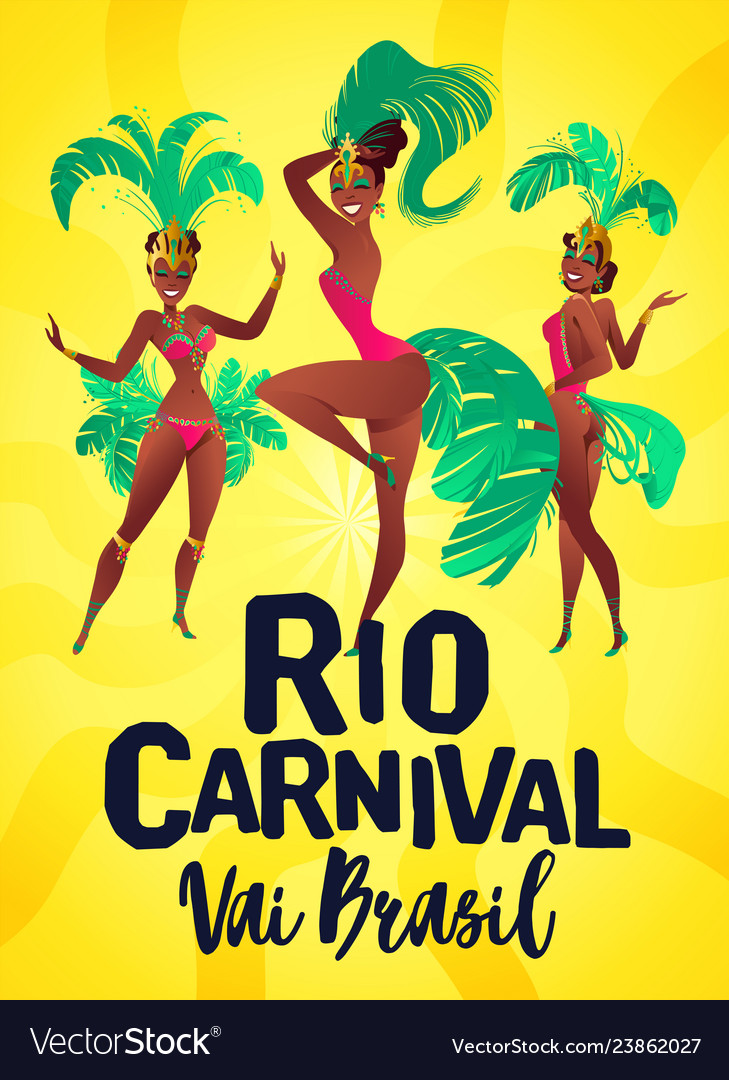 Brazilian samba posters carnival in rio de