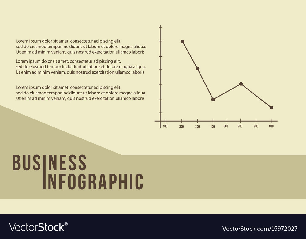 Business infographic line graph design