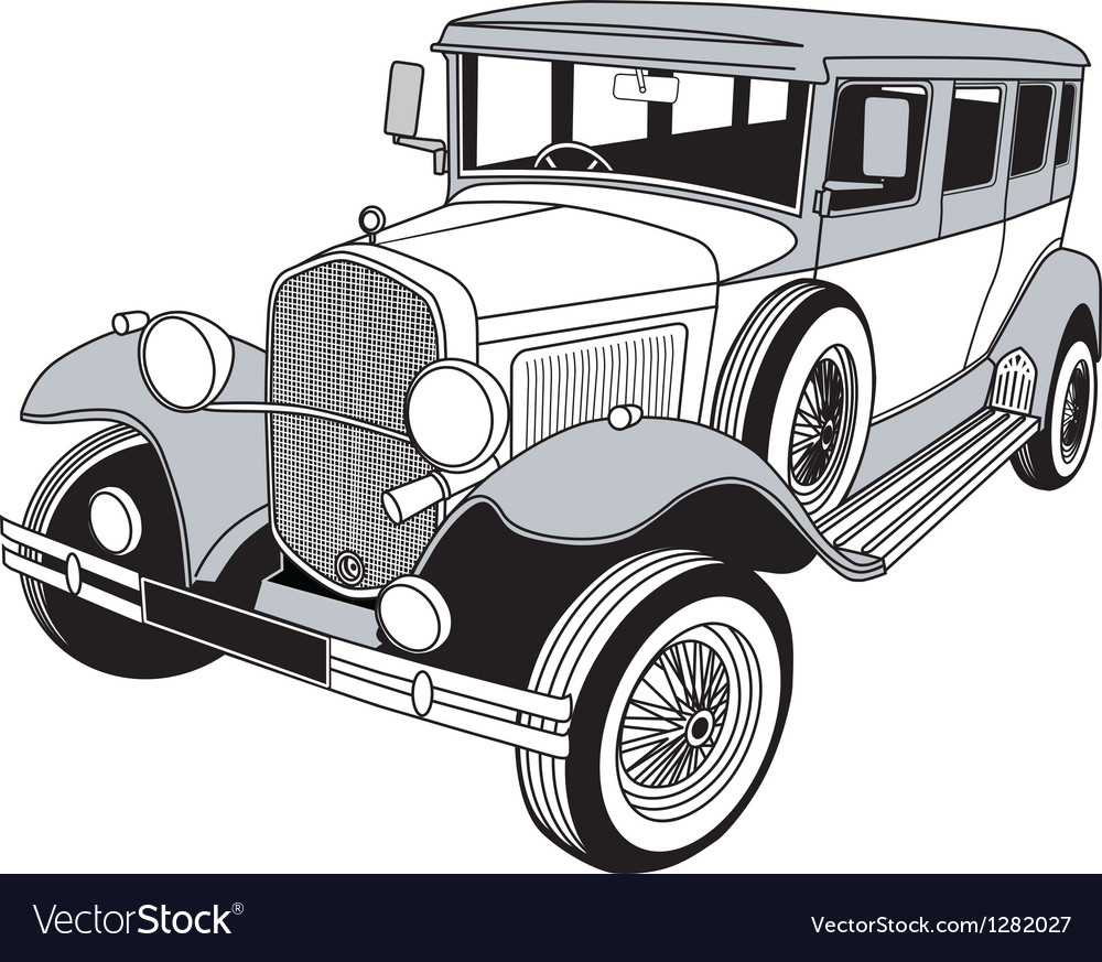 classic car royalty free vector image vectorstock rh vectorstock com classic car silhouette vector classic car vector free