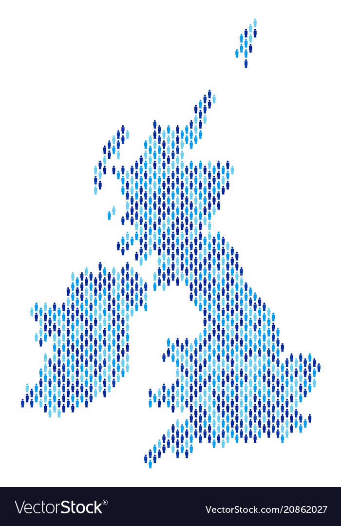 Britain And Ireland Map.Great Britain And Ireland Map Population Vector Image
