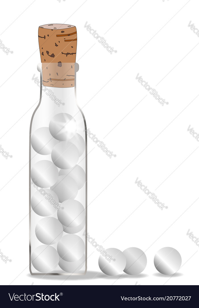 Homeopathic remedy bottle vector image