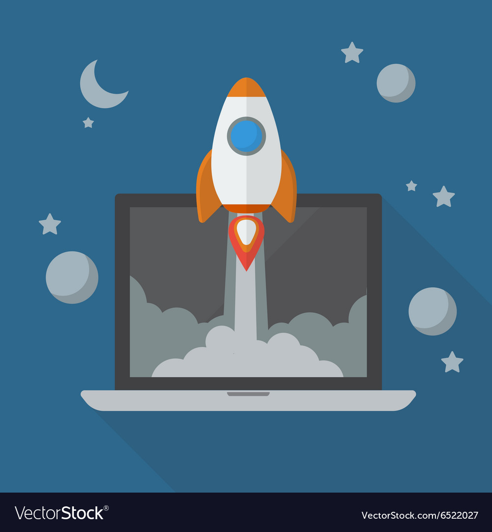 Rocket launching from laptop