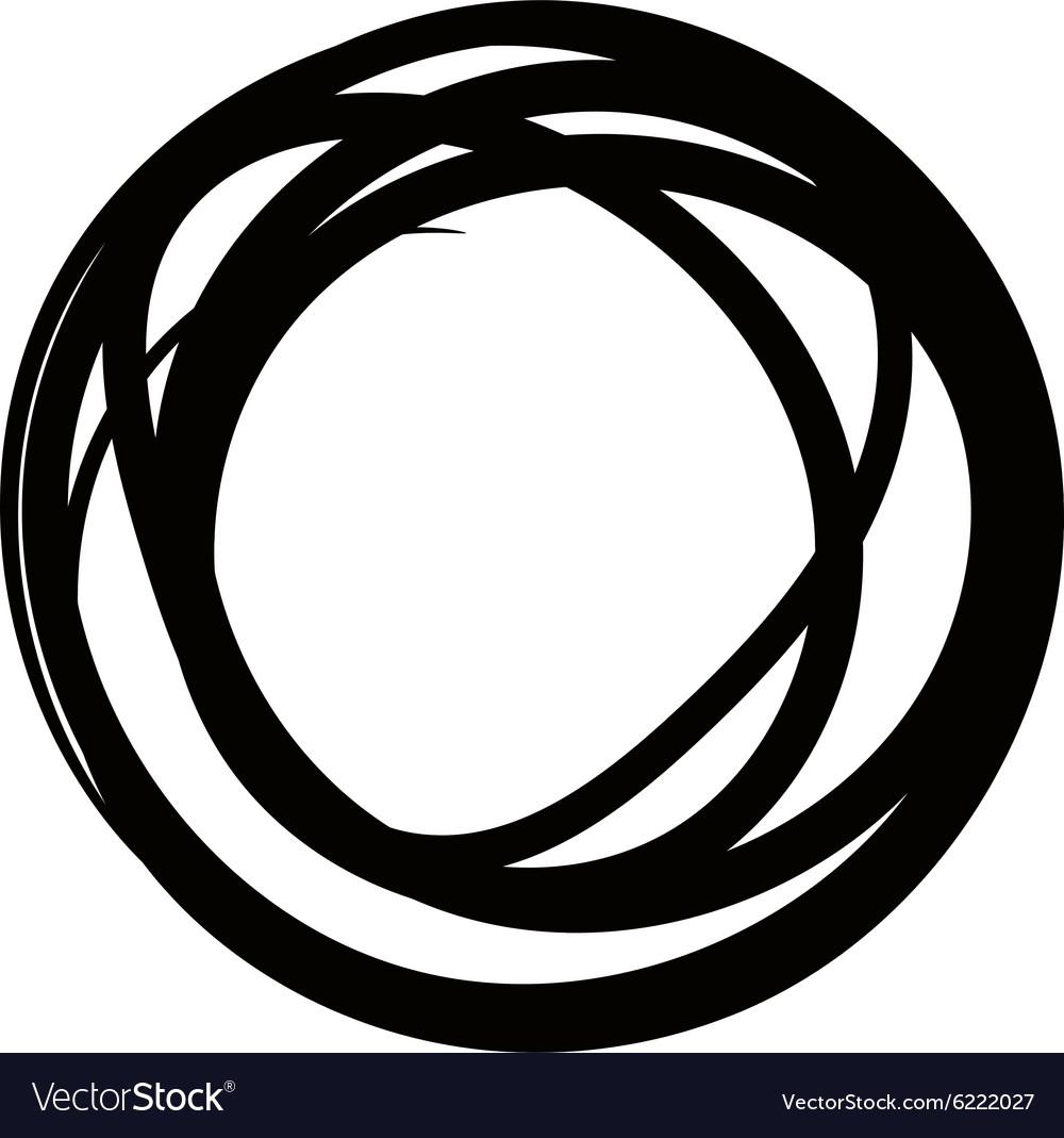 Round design element Crcle black frame Rond