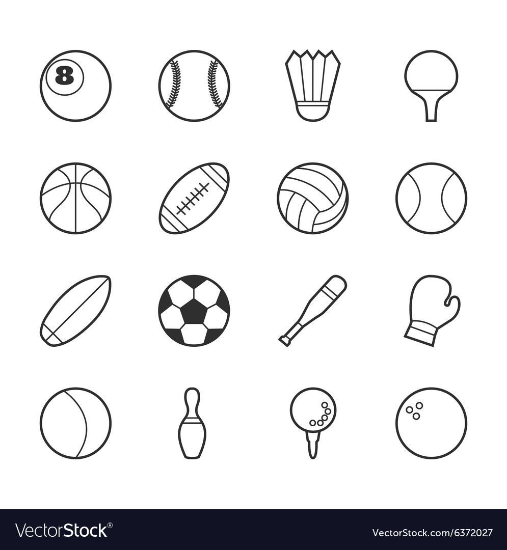 Set of sport icons eps10 format
